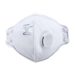FFP3 Valved Respirator (Pk20) - Colour: White - Pack of: 1