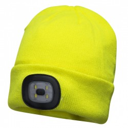 Beanie Led Head Light Usb Rechargeable - Yellow - Qty: 5